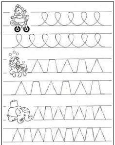 Předem psaní aktivity (8) Teaching Cursive Writing, Cursive Writing Worksheets, Handwriting Activities, Preschool Writing, Preschool Education, Pre Writing, Preschool Worksheets, Kindergarten Activities, Writing Skills