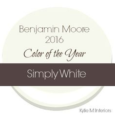 I realize that some people might be disappointed that the 'color' of the year for 2016 is a white, but don't fret – this isn't just any white…this is Simply White and you will likely want to use it somewhere in your home.  Why?  Because it is simply  the best white paint color on the market and I'm glad to see it get the recognition it deserves!