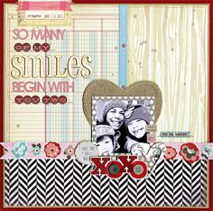 So many Smiles, by Julie Bonner, using the Lasting Love kit.