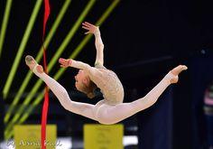 Olena DIACHENKO (Ukraine)🇺🇦 ~ Ribbon @ Deriugina Cup - Grand Prix @ Kiev🇺🇦 17/03/'17 😍😍  📸 🇩🇪Anna Kull.