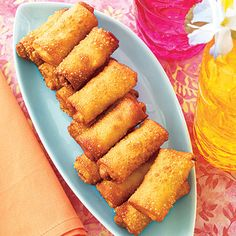 Mini Egg Rolls- These crowd-pleasing egg rolls are super easy (and cheap!) to cook up on your own. Instead of chopping the cabbage yourself, cut down on prep time by using packaged slaw mix.