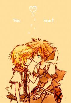Roxas & Sora. His literal other half.