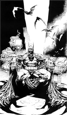 (468 x 800) Batman Black  - Marc Silvestri - Comic Art by Marc Silvestri