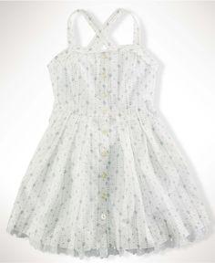 Ralph Lauren Kids Dress, Girls Blue Floral Dress - Kids Dresses - Macy's