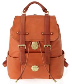 Marc Jacobs Orange Cow Leather Backpacks