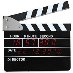 Exquisite Big Film Clappers LED Display Date Hour Minutes Second