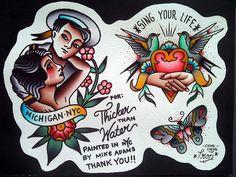 Take Your Shot Fanzine: Tattoo Spotlight: The Old School Tattoo Art of Mike Adams
