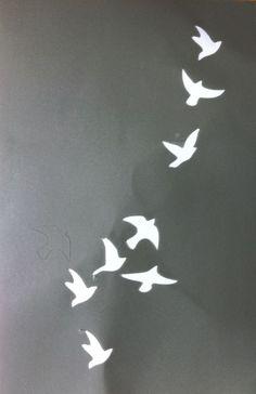 Resultado de imagem para stencil birds flying