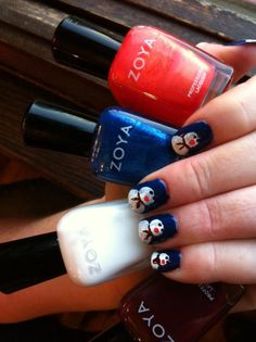 Snowman Nail Look with Zoya Nail Polish
