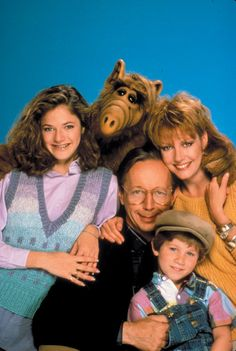 """80s Classic TV show.  A furry alien lands in the suburbs of California? You get """"Alf"""""""