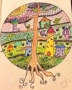 Houses and tree