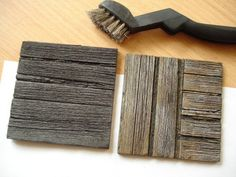 wood effect with wire brush. directions using black foamboard