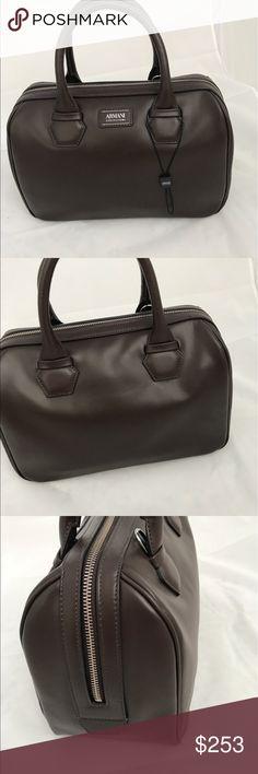 """Authentic ARMANI COLLEZIONE BAG ARMANI COLLEZIONE WOMEN BAG IN DARK BROWN CROSSBODY.  L 12"""". H. 8.5"""".  D. 5"""". MADE IN TURKEY. DUST BAG INCLUDED Armani Collezioni Bags"""