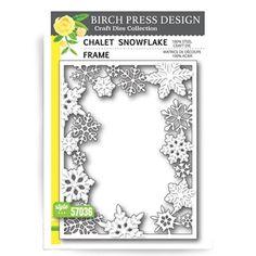 Birch Press Design CHALET SNOWFLAKE FRAME Craft Die 57036
