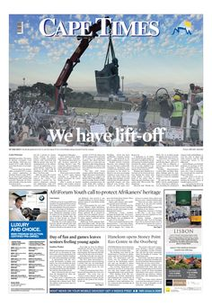 News making headlines: We have lift-off