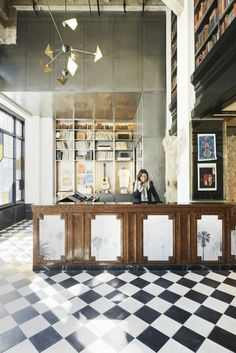 Ace Los Angeles Lobby DeskPhoto by Spencer Lowell Courtesy of Ace Hotel