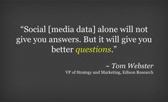 """When it comes to market research, """"social media is the world's biggest focus group,"""" says Tom Webster of Edison Research. But he also reminds us that while looking at social media data alone will not provide concrete answers, it does enable brands to ask the right questions.     Read the recap and watch Tom's recorded webinar for illustrative examples on """"How to Turn Social Media Data into Market Research:"""" http://rad6.ly/JjD7xF It's worth it!"""