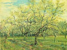 The White Orchard | Vincent Van Gogh | oil painting #vangoghpaintings