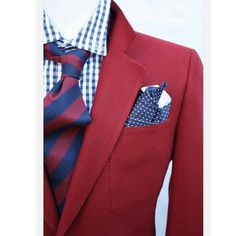 Vintage Mens Red Sportcoat Size Preppy Jacket Blazer Sport Coat Christmas Holiday Party Vintage Mens Red Sportcoat Size Preppy by ViVifyVintage Style Dandy, Gq Style, Looks Style, Fashion Mode, Look Fashion, Mens Fashion, Fashion Outfits, Sharp Dressed Man, Well Dressed Men