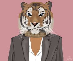 Tiger in Suit by laurenmcleanart on redbubble