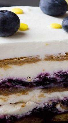 Blueberry Lemon Icebox Cake