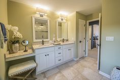 Master Bathroom in The Hamilton at Woodleaf Reserve. Pewaukee, Wisconsin.