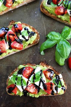 Caprese Avocado Toast Recipe on twopeasandtheirpod.com Caprese salad meets avocado toast! This is the BEST avocado toast and it's super simple to make!