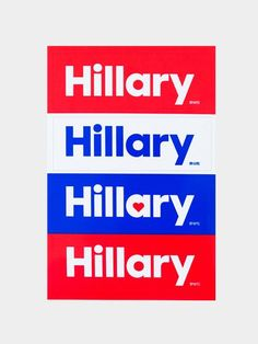 Hillary Sticker Sheet: Deck out your bumper, your computer, or just about any surface with these festive removable stickers. Hillary Clinton 2016, History Facts, Signature Style, Signage, Politics, Surface, Stickers, 2016 Election, Peace