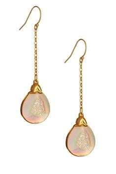 Vivian Tamayo  Opal Druzy Chain Dangle Earrings