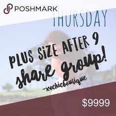 [OPEN] PSA9 THURSDAY SHARE GROUP 🔴PLEASE READ!🔴  Please no comments below, please use the convo page for comments/questions. Thank you!!  1.Tag your closet name.  2. Come back the night of the share group and share all closets listed.  3. NO EARLY SHARING. Sharing will be done after the evening posh party. 4. Sign up closes at 9pm! Sharing begins at 9pmPST until 7amPST.  5. After you are done sharing please sign out!  6. Have fun and let's make those sales!!  7. PLUS SIZE ITEMS SHARING…