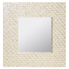 Worlds Away Johanna Inlaid Capiz Shell Square Mirror WAJOHANNA