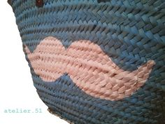 Capazo print Moustache detalle #beach #Sun #summer www.facebook.com/atelier51.Plasencia http://www.atelier51handmade.com/