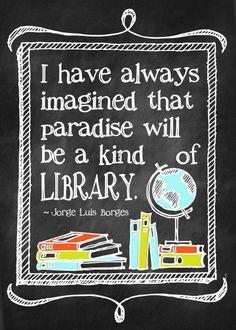 Library Paradise {Free Printable}