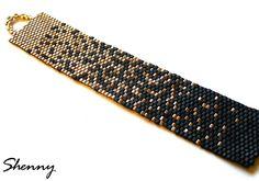 hecho a mano por Shenny: Pulsera con sombra. / Pulsera sombreado. Absolutely beautiful bracelet!