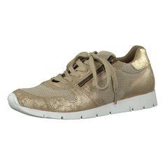Komfortable Tamaris Damasco Sneakers mit flexiblem Mesheinsatz. Die Schuhe besitzen einen bequemen Low Cut und sind am Schaftrand angenehm gepolstert.  - Verschluss: Schnürverschluss - Absatzart: Flach - Absatzhöhe: ca. 2 cm  Obermaterial: Textil, sonstiges Material (Materialmix aus Synthetik) Futter: Sonstiges Material (Synthetik) Decksohle: Sonstiges Material (Synthetik) Laufsohle: Sonstiges ...