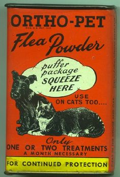 Ortho-Pet Flea Powder vintage packaging