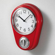 Retro Kitchen Clock With Timer. By Lilyu0027s Home (Red) Lily... | Retro |  Pinterest