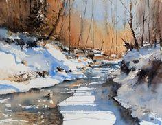 Michael Jasiewicz (b. Watercolor Journal, Watercolor Artists, Watercolor Landscape, Artist Painting, Watercolor Illustration, Watercolour Painting, Painting & Drawing, Landscape Paintings, Watercolors