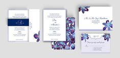 Watercolor Orchids Wedding Invitation and by silentlyscreaming