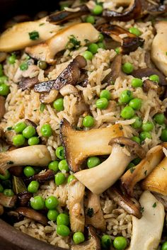 This warming, savory, hearty baked rice casserole was originally meant to be an Indian-style biriyani, but my larder was stocked with Gallic ingredients: mushrooms, thyme, garlic, parsley I switched gears, heading in a French direction It's a great dish for feeding a crowd and also reheats beautifully, so it's worth making the entire batch