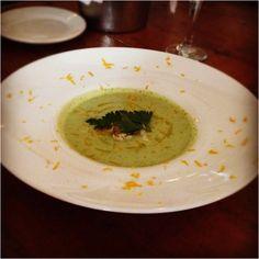 Chilled #Avocado & #Crabmeat #Soup at #Acqua