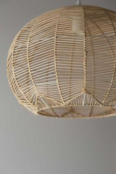 PRE ORDER NOW FOR JUNE DELIVERY! Milly and Eugene's Round Rattan Pendants are a new take on our ever popular Lace Rattan Pendant. The delicate rattan is intricately wound by hand around the metal Rattan Light Fixture, Wicker Pendant Light, Kitchen Pendant Lighting, Pendant Lamp, Round Pendant Light, Pendant Light Fixtures, Chandelier Lighting, Chandeliers, Rattan Lampe