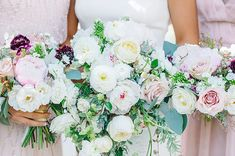 Bride and Bridesmaids Bouquets.  Coordinator | Mac & B Events - Photographer | Aaron and Jillian Photography - Florist | On a Limb