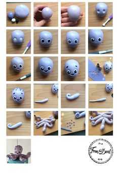 Tutorial - Nemo and his friends - Féerie cake - Tutorial – Nemo and his friends – Féerie cake Best Picture For boho crafts For Your Taste Yo - Fondant Figures, Fondant Cake Toppers, Clay Figures, Cupcake Toppers, Cake Topper Tutorial, Fondant Tutorial, Polymer Clay Crafts, Diy Clay, Felt Crafts
