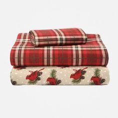 Martha Stewart Collection Novelty Print Flannel Sheet Sets ...