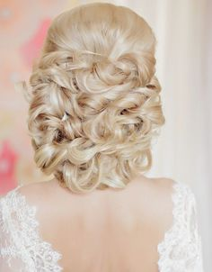Incredibly Elegant Wedding Hairstyles from Websalon Wedding Elegant Wedding Hair, Mod Wedding, Wedding Updo, Wedding Summer, Wedding Stuff, Up Dos For Medium Hair, Medium Hair Styles, Long Hair Styles, Fancy Hairstyles