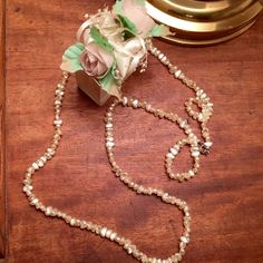 Vintage Rice Baroue Pearls Necklace Beautiful