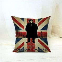Sherlock Holmes Sofa Cushion