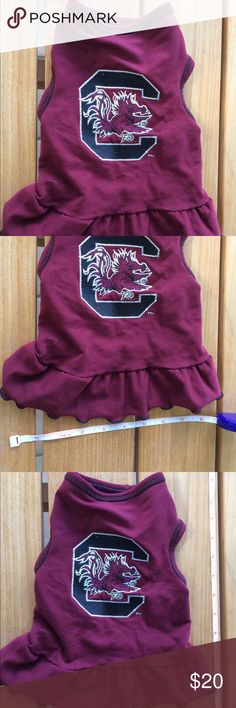 Dog dress :) Go Gamecocks! Doggie dress! Costumes Halloween