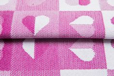 Heartbeat Ruby #weavingstudio #fabricart #cottonfabric #heartbeat #grey #ruby #pink